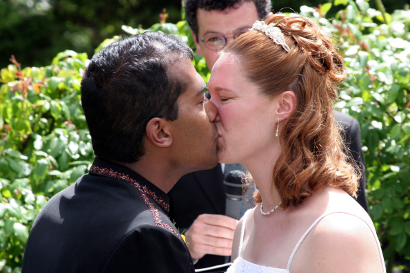 First Kiss Hindu Wedding And Western