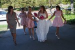 Bride Arrives wedding heather farms walnut creek california