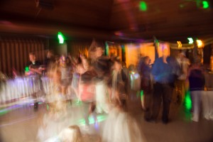 long exposure of people dancing and partying wedding reception heather farms community center walnut creek California