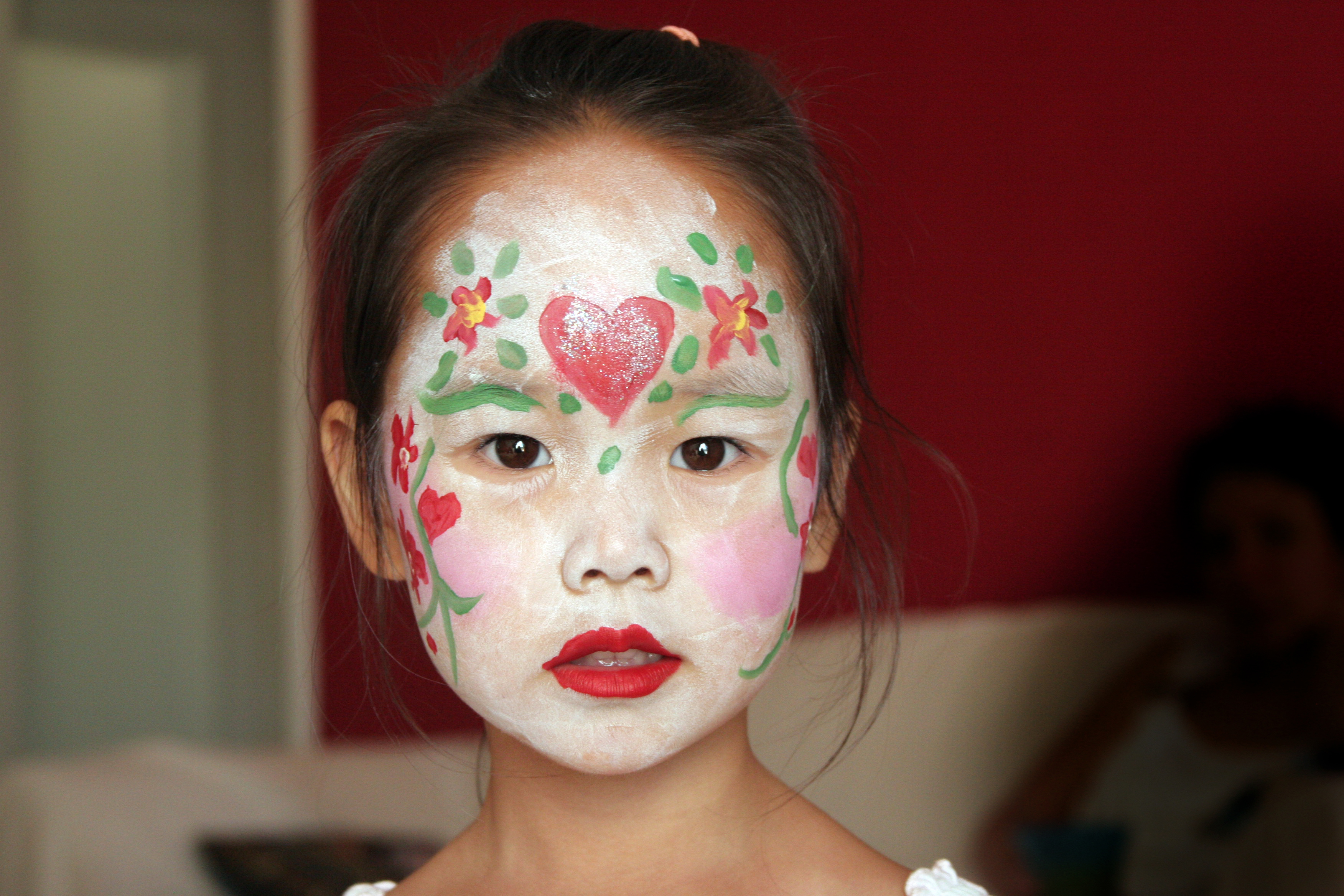 Photo Of A Five Year Old Girl In Facepaint San Francisco Wedding