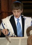 Boy reading from Torah jewish temple oakland california bar mitzvah photography