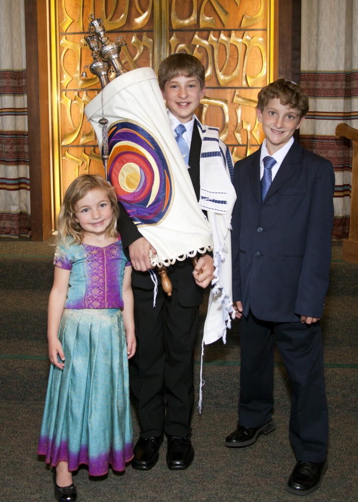 Louis Teitelbaum Bar 9244 crop 5x7 731x1024 Bar Mitzvah photos from an Orthodox Temple in Oakland, and a nearby rose garden