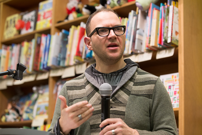 19 42 53IMG 3709 proof Author Cory Doctorow speaking at The Booksmith in San Francisco