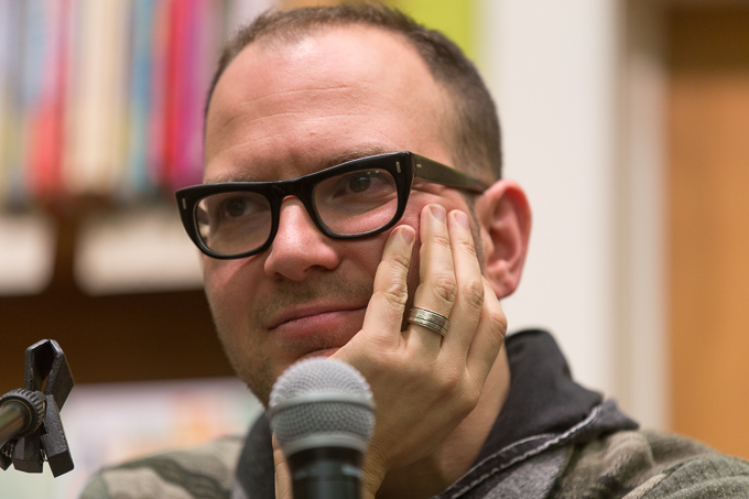 Cory Doctorow at The Booksmith in San Francisco Homeland tour