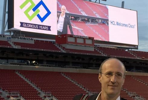 Shooting corporate event photography at Levi's Stadium. They have a jumbotron camera up! #gettingpaid #eventphotography #49ers #levistadium